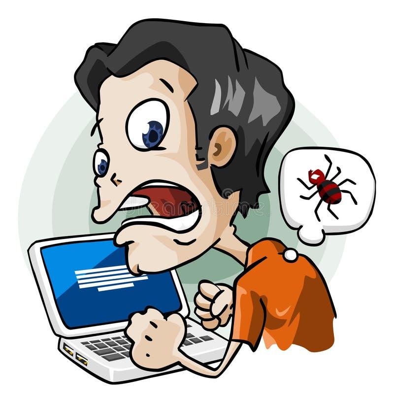 Infectado por Virus. ilustración del vector