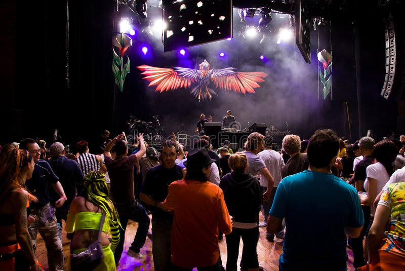 Infected Mushroom in Concert royalty free stock image