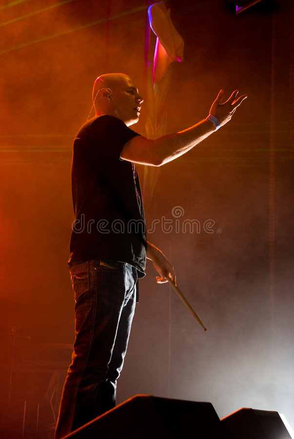 Infected Mushroom in Concert stock photography