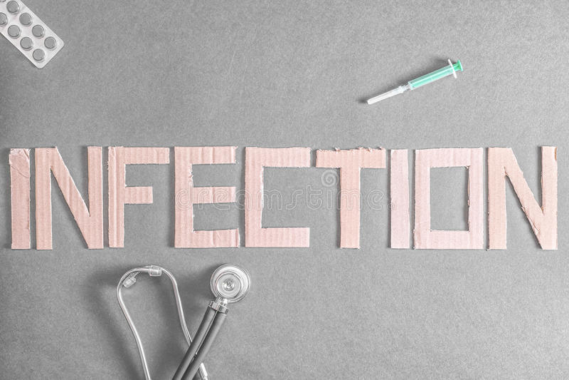 infektion lizenzfreie stockbilder