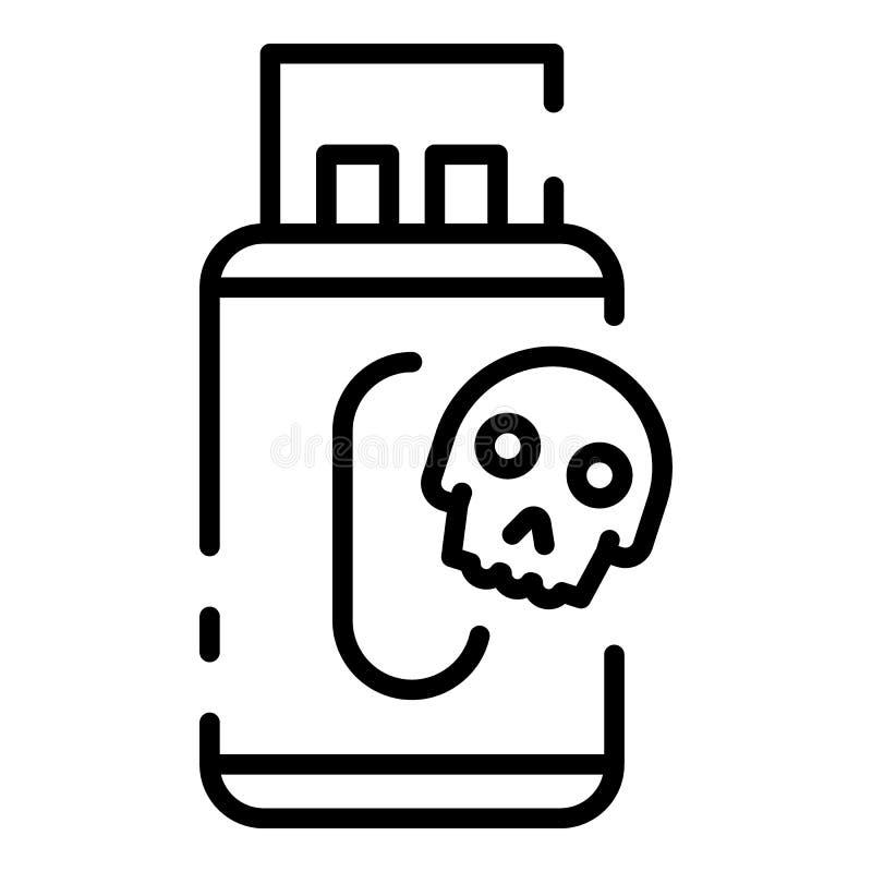 Infektion der grellen Antriebsikone USBs, Entwurfsart lizenzfreie abbildung