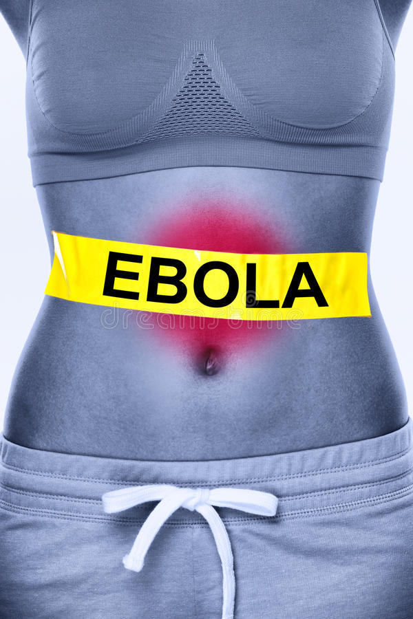 Infektion för Ebola virus royaltyfri fotografi