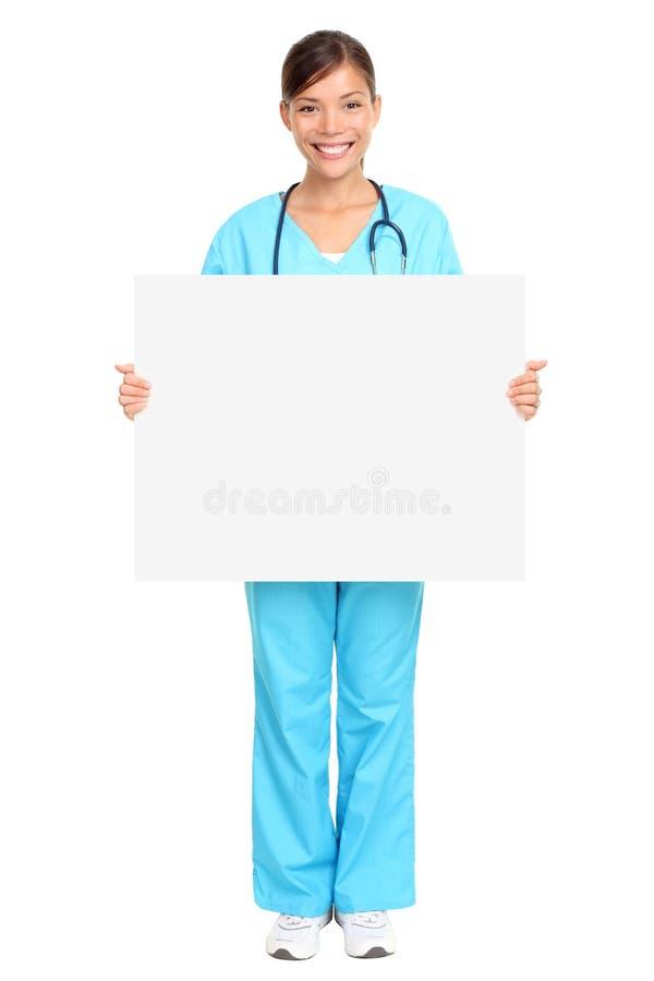 Infermiera medica del segno fotografie stock
