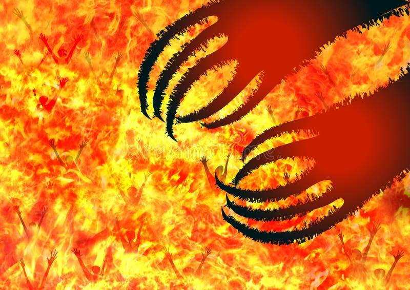 Inferno illustrazione di stock
