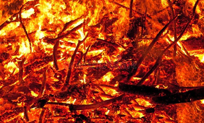 Inferno Burning immagini stock libere da diritti