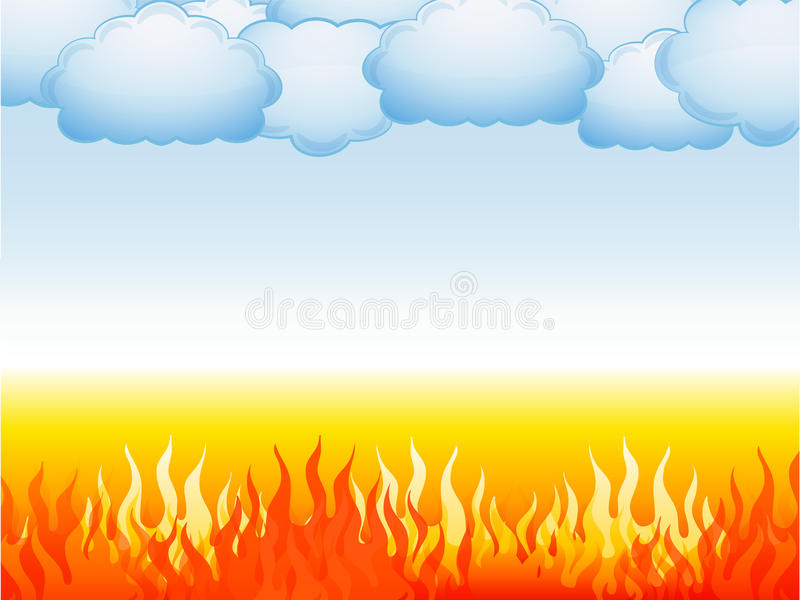 Inferno e cielo illustrazione di stock