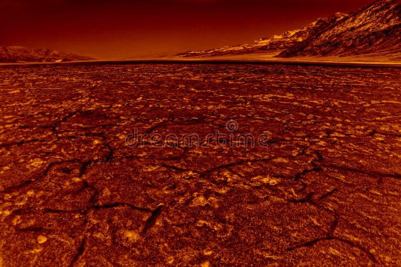 Inferno em Death Valley fotografia de stock