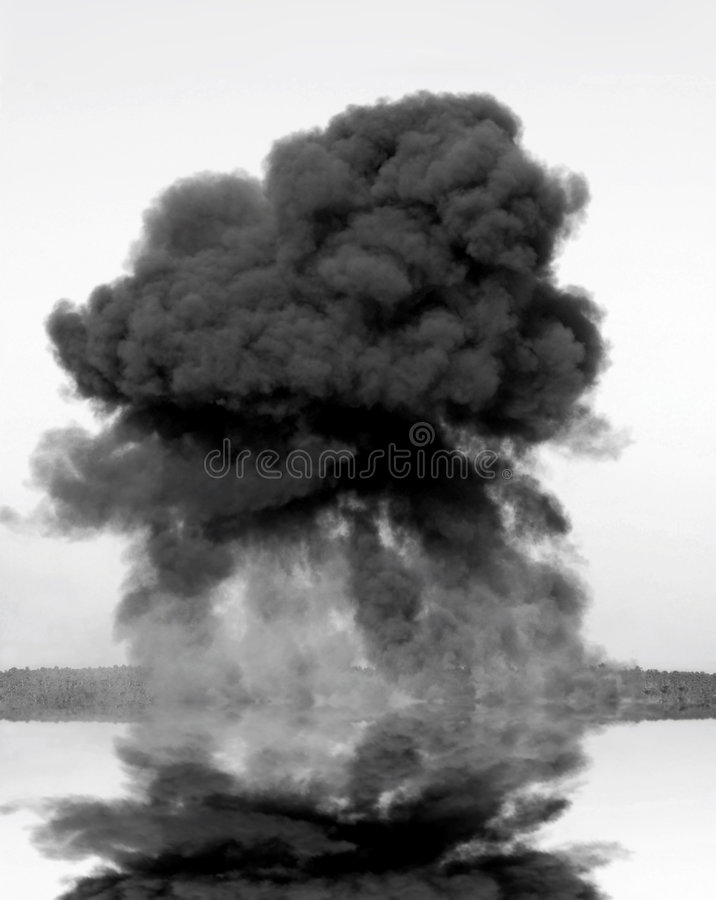 Inferno enorme dall'esplosione fotografia stock libera da diritti