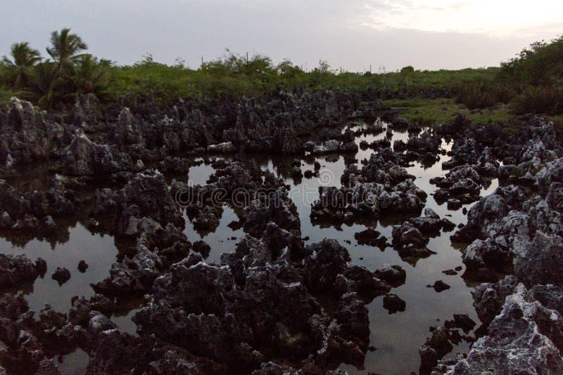 Inferno in Grand Cayman fotografia stock