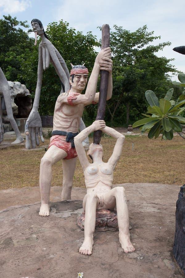 Inferno tailandês do buddism imagem de stock