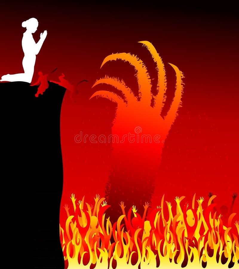 Inferno-vettore royalty illustrazione gratis