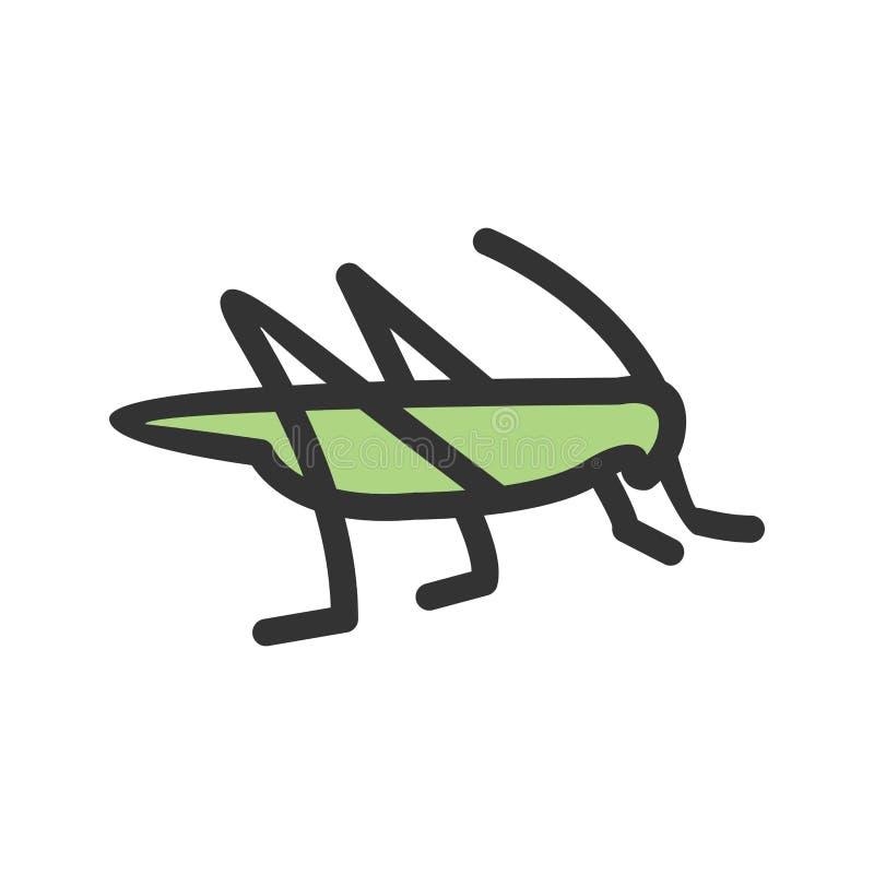 Infestação dos locustídeo ilustração stock