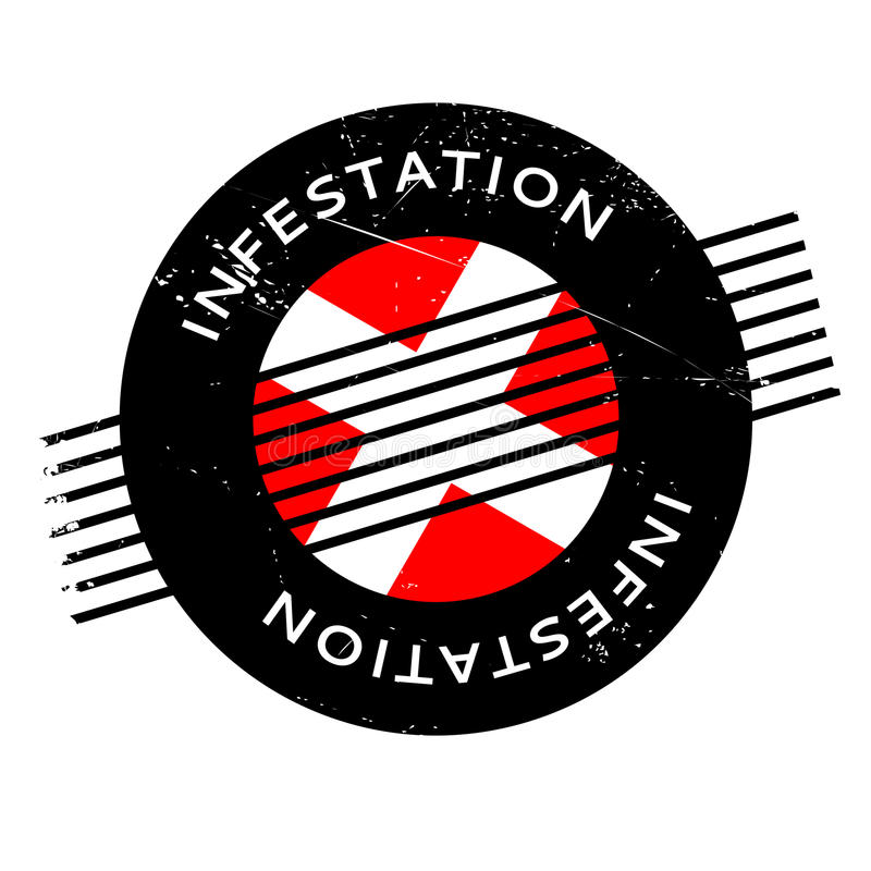 Infestation rubber stamp. Grunge design with dust scratches. Effects can be easily removed for a clean, crisp look. Color is easily changed vector illustration