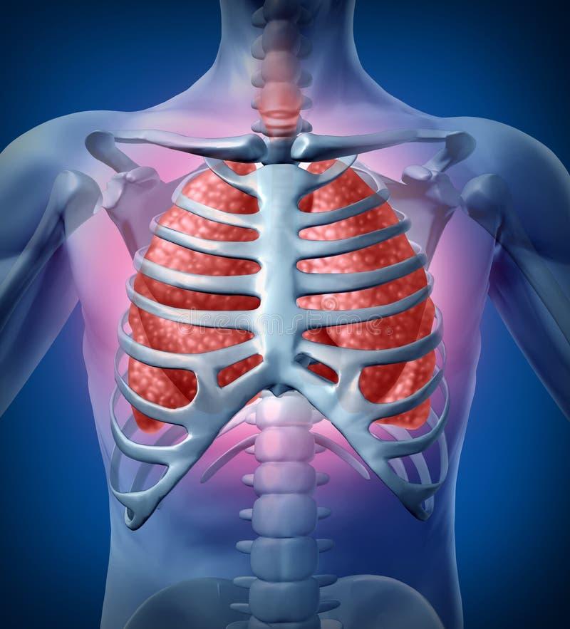 Infezione umana del polmone illustrazione di stock