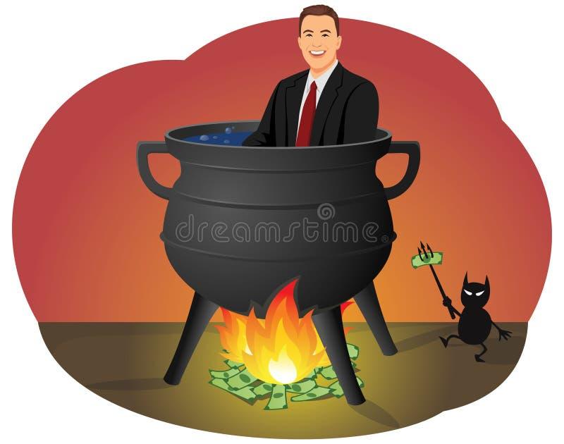 Infierno financiero ilustración del vector