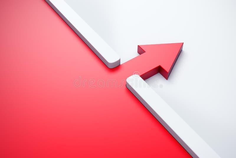 Infiltration eines roten Pfeiles draußen lizenzfreie abbildung