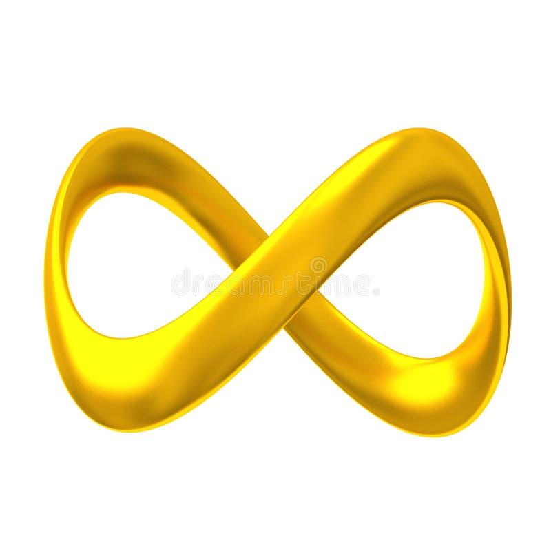 Infinidade 3d do ouro imagens de stock