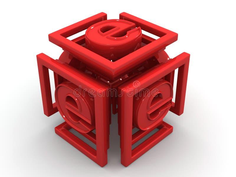 Infinidade com símbolo para o Internet ilustração royalty free