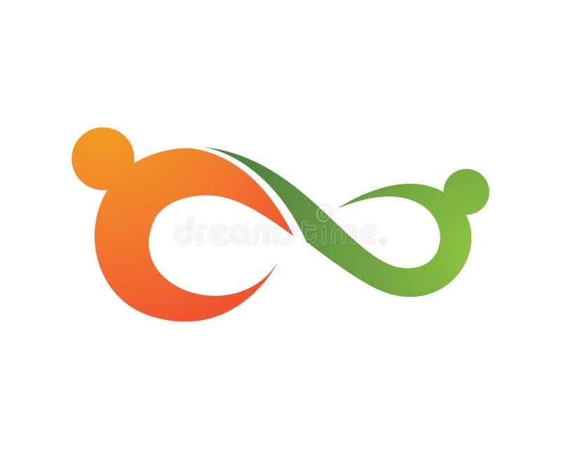 Infinidade Logo Template ilustração stock