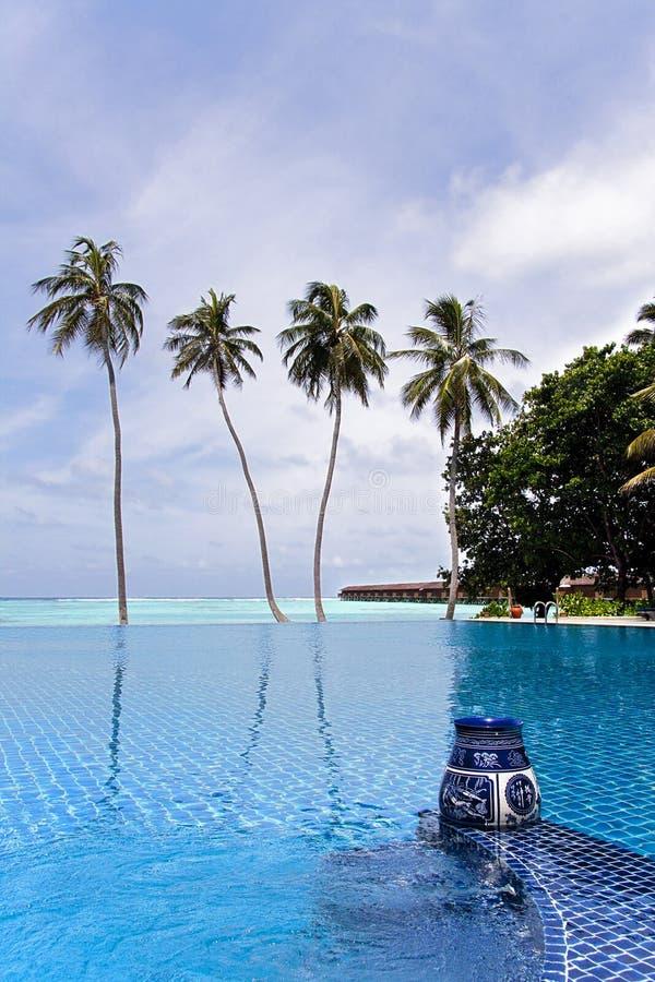 Infinità, Maldives fotografie stock
