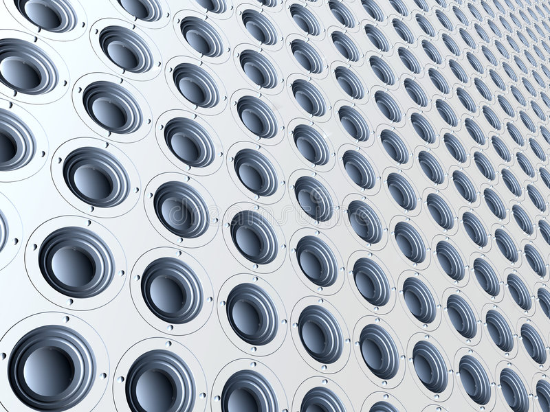 Infinite Audio - White royalty free stock image
