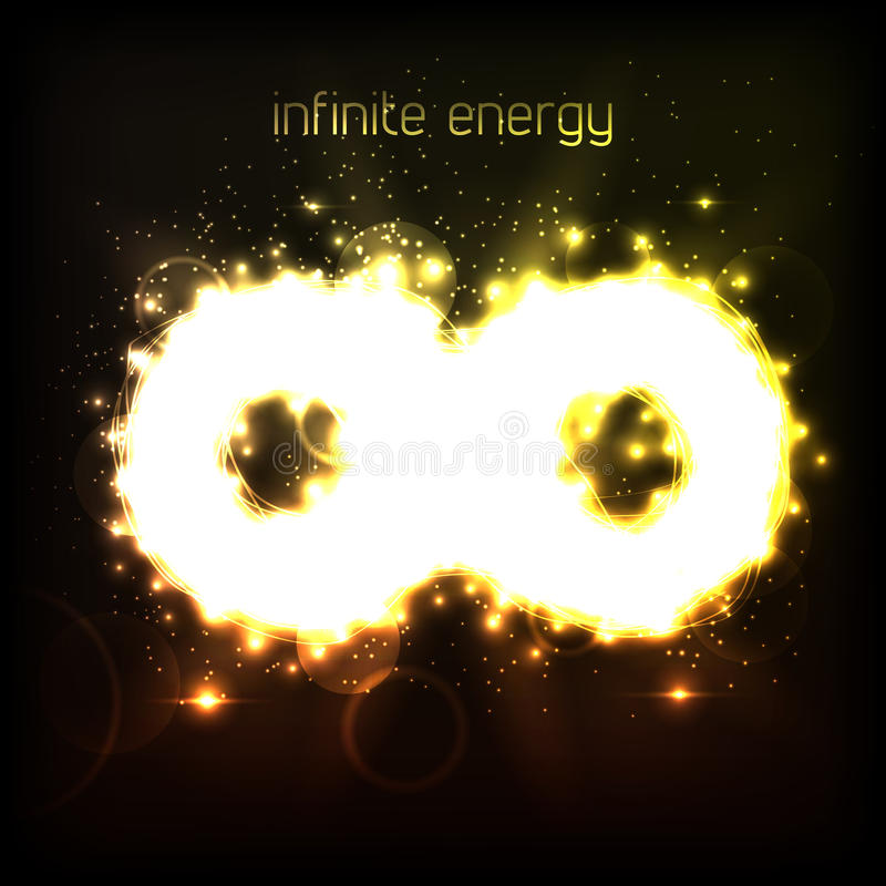 Infinite energy vector illustration