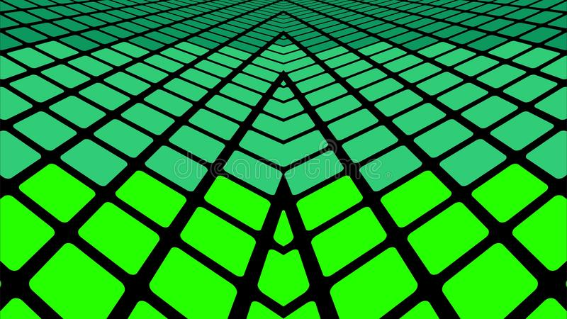 Green geometric abstract background. Infinite green tiles background - Illustration, Green geometric abstract background stock illustration
