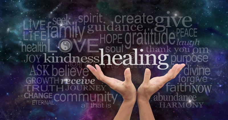 Infinite Healing Words royalty free stock images