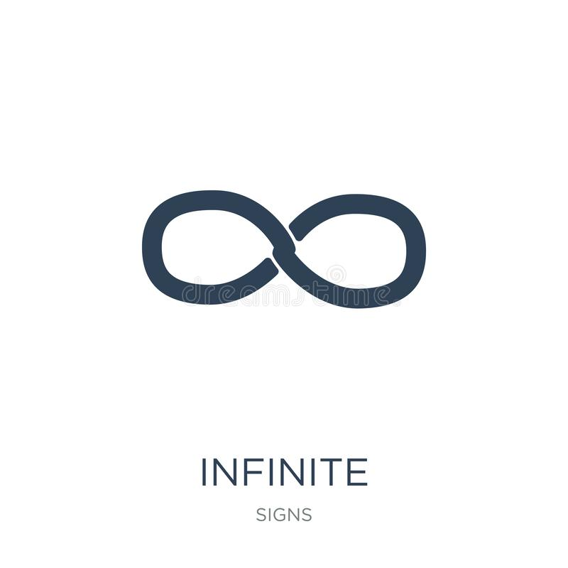 infinite icon in trendy design style. infinite icon isolated on white background. infinite vector icon simple and modern flat stock illustration