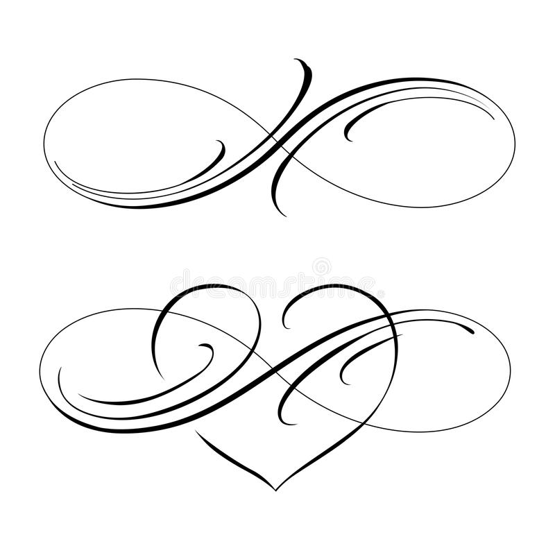 Infinite love stock vector. Illustration of mobius, love