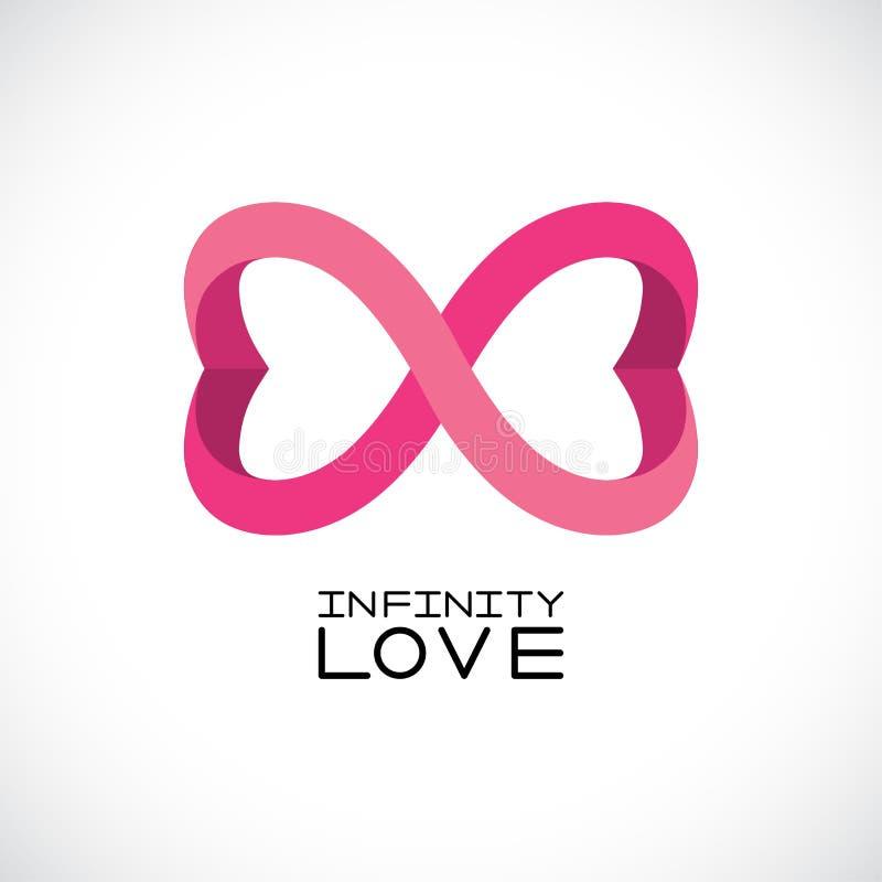 Infinite Love Symbol Endless Symbol Two Hearts Vector