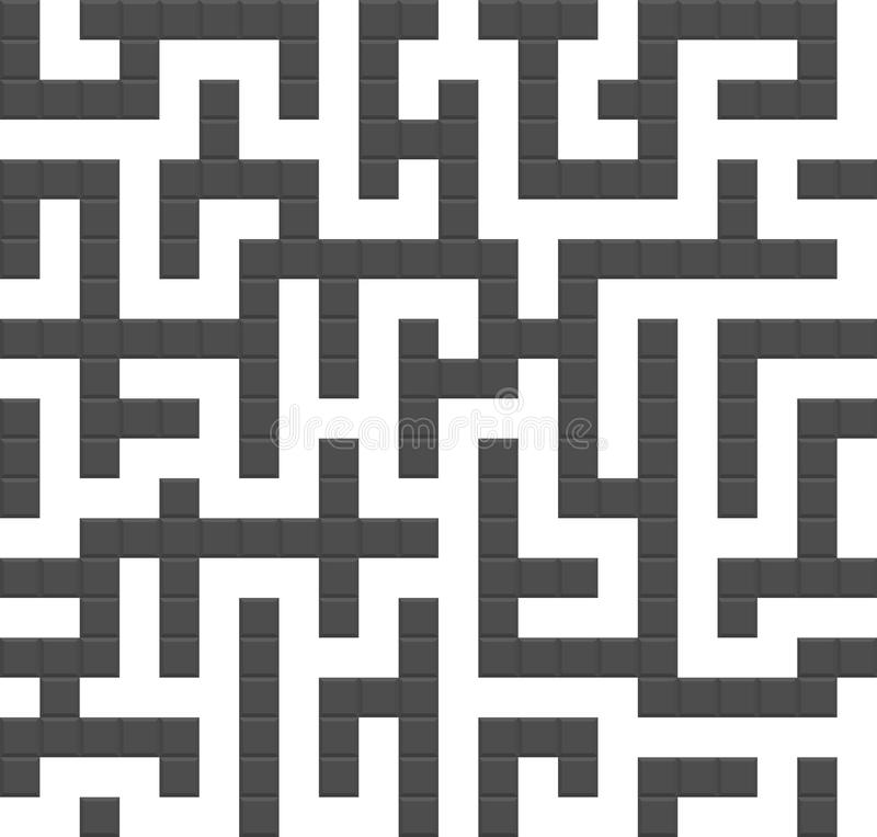 Download Infinite Maze Seamless Background Pattern Stock Vector - Image: 25309930