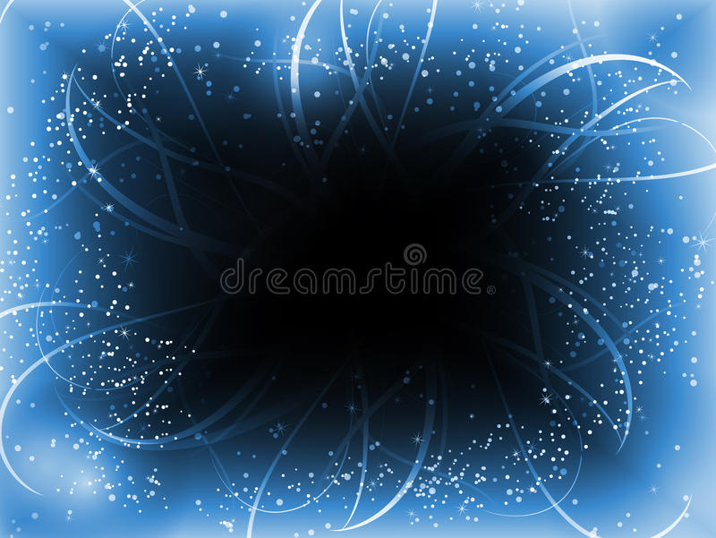 Infinite Perspective Blue Stars Royalty Free Stock Images