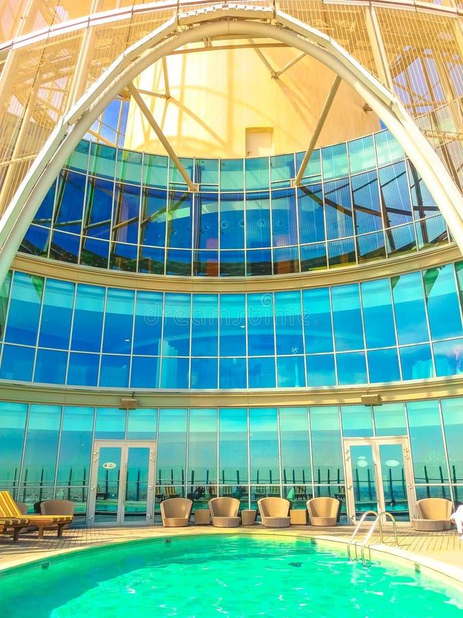 Infinite pool Doha stock photos