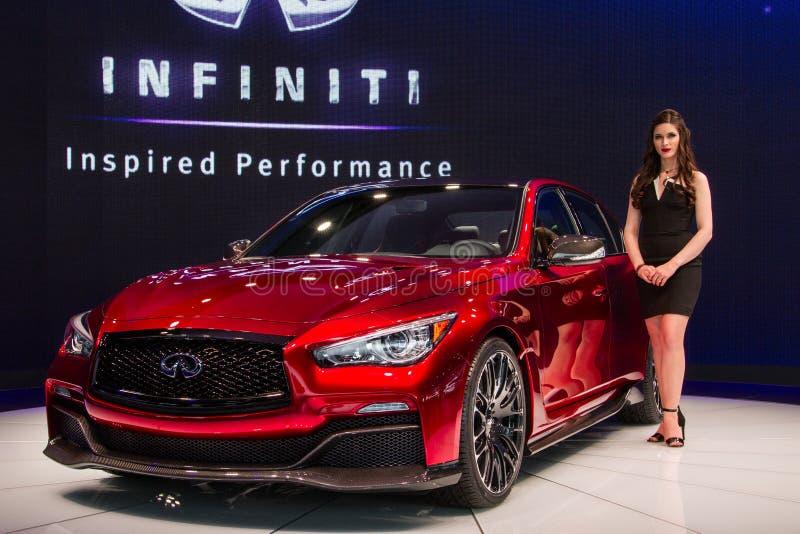 Infinite Q50 Eau Rouge concept car stock photo