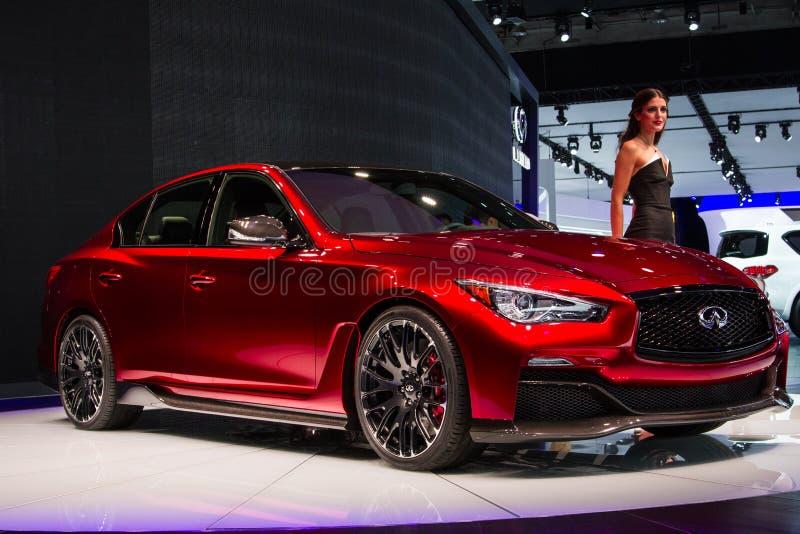 Infinite Q50 Eau Rouge concept car stock images