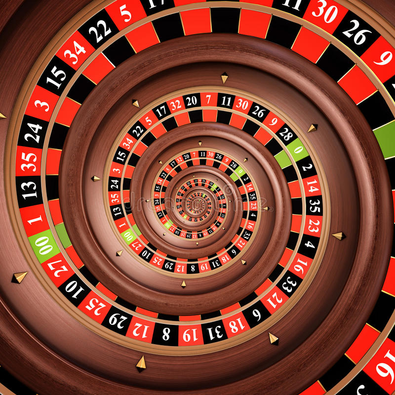 Infinite roulette royalty free stock image