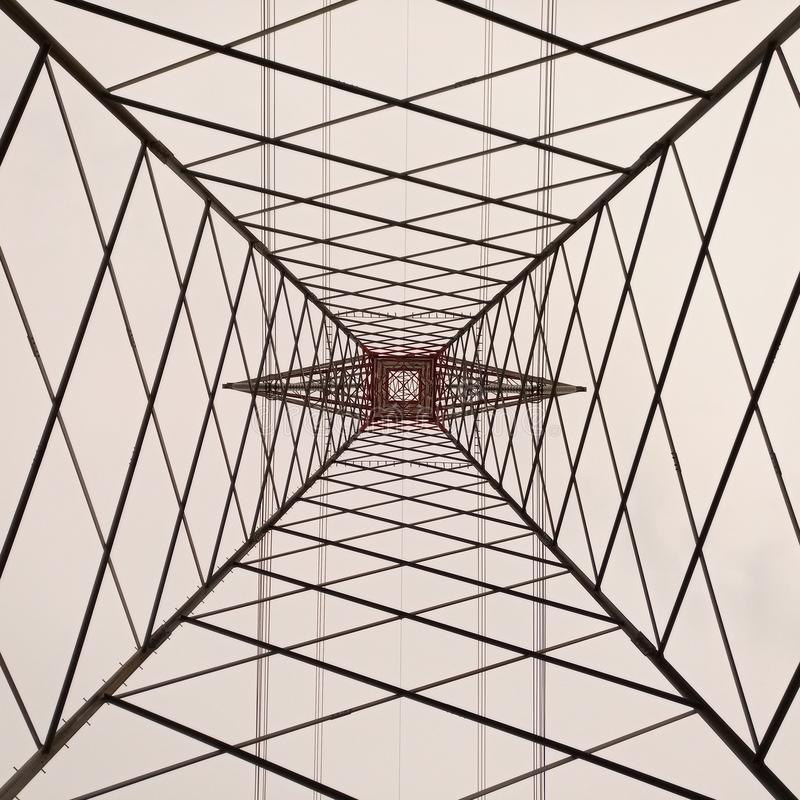 Infinite simmetry. Under a electrical way royalty free stock photos