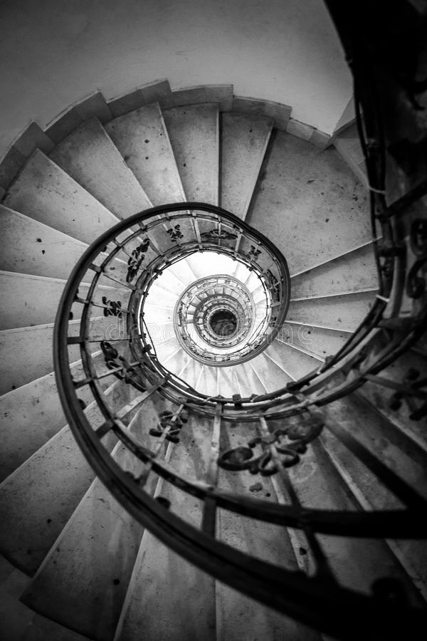 Infinite. Stairs to the hell royalty free stock images