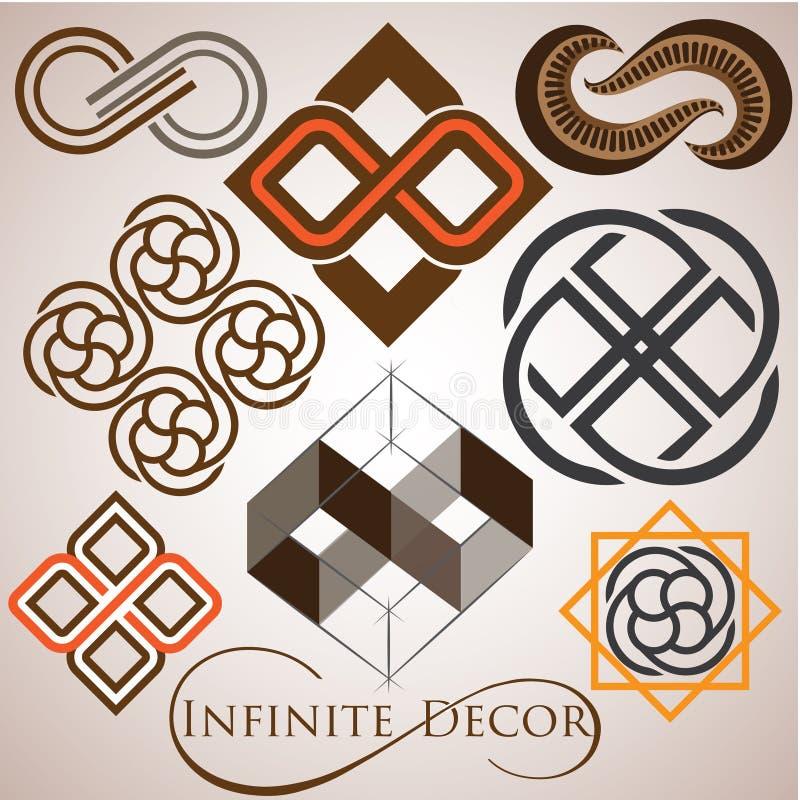 Infinite Symbol Logo Set Stock Vector Illustration Of Illustration