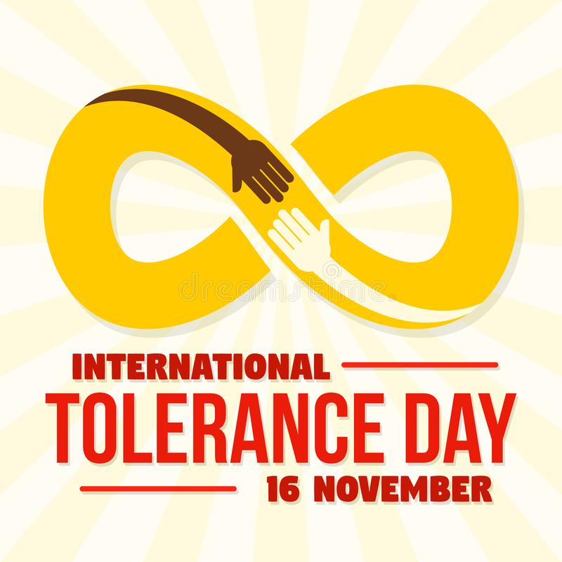 Infinite tolerance day concept background, flat style. Infinite tolerance day concept background. Flat illustration of infinite tolerance day vector concept stock illustration