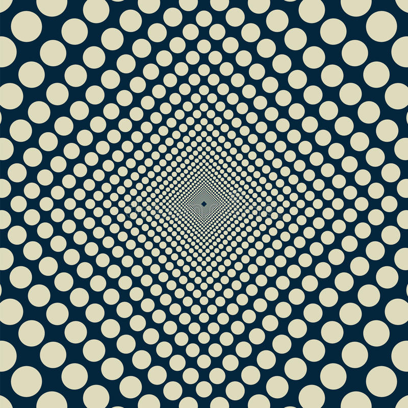 Infinite uniformly decreasing circles vector illustration