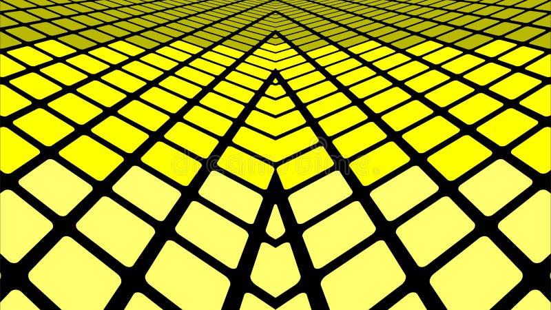 Yellow geometric abstract background. Infinite yellow tiles background - Illustration, Yellow geometric abstract background stock illustration