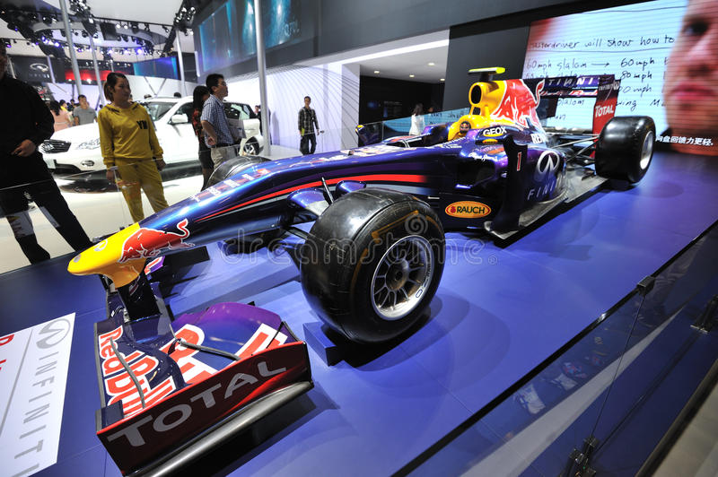 Infiniti f1 racing car. Road to China's West - 16th Chengdu Motor Show, August 31th-September 8th, 2013 royalty free stock image