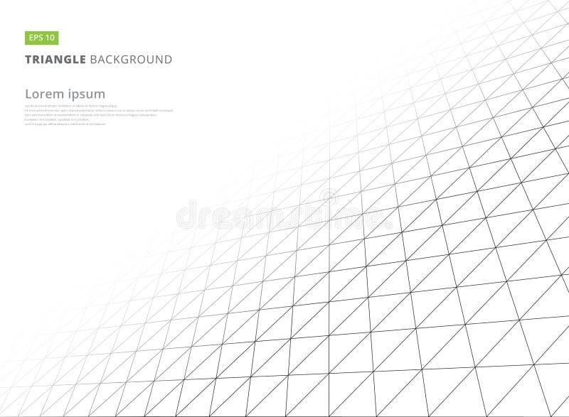 Infinito bianco della struttura del modello geometrico astratto del triangolo royalty illustrazione gratis