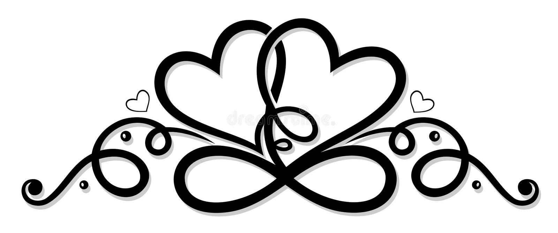 Infinito con dos corazones libre illustration