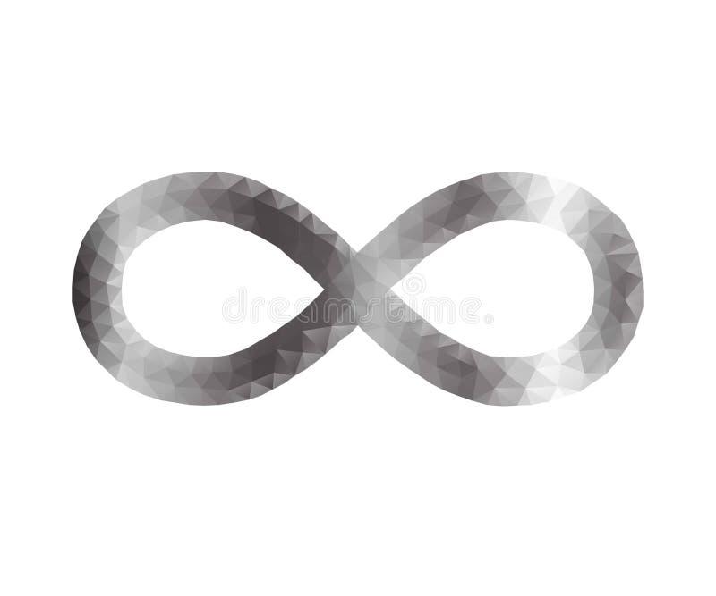 Infinito, polígono stock de ilustración