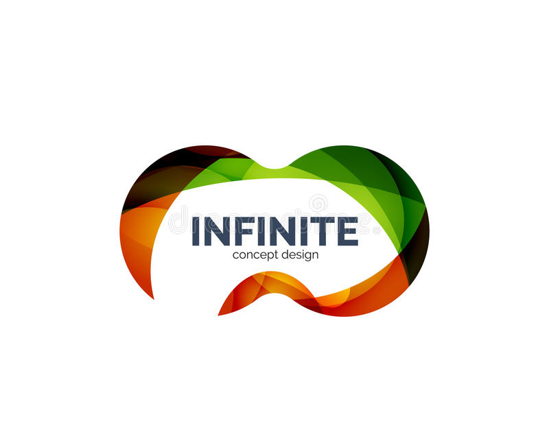 Infinity business logo concept royalty free illustration