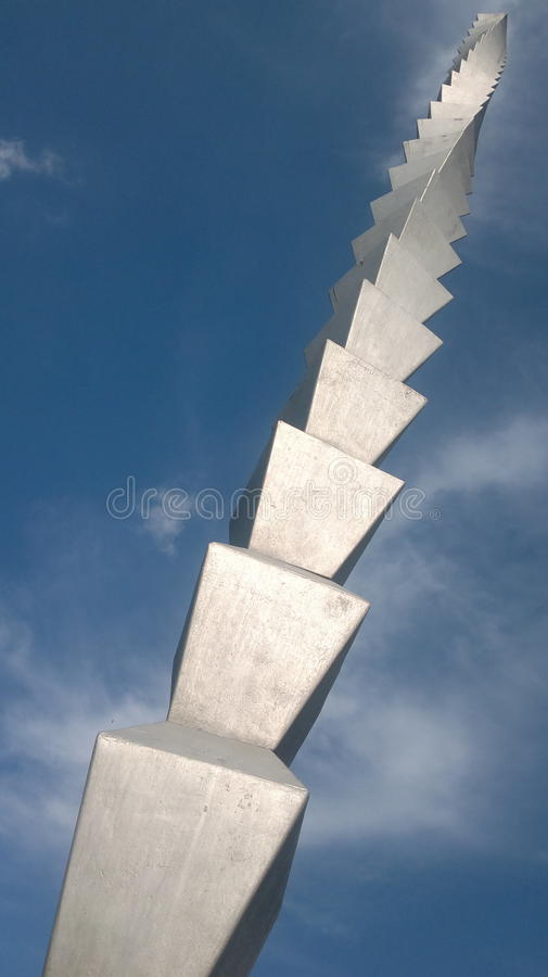 Infinity column - Constantin Brancusi masterpiece. One of the most famous sculptures by Brancusi, am architectural landmark of Targu Jiu stock images