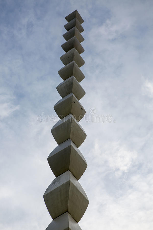 Infinity column - Constantin Brancusi - Targu Jiu. Romania royalty free stock images